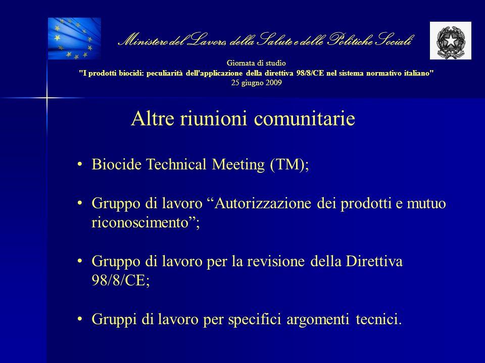 Altre riunioni comunitarie
