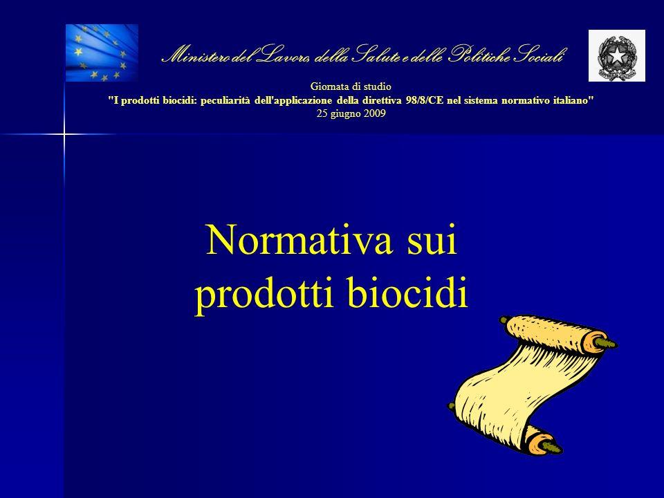 Normativa sui prodotti biocidi