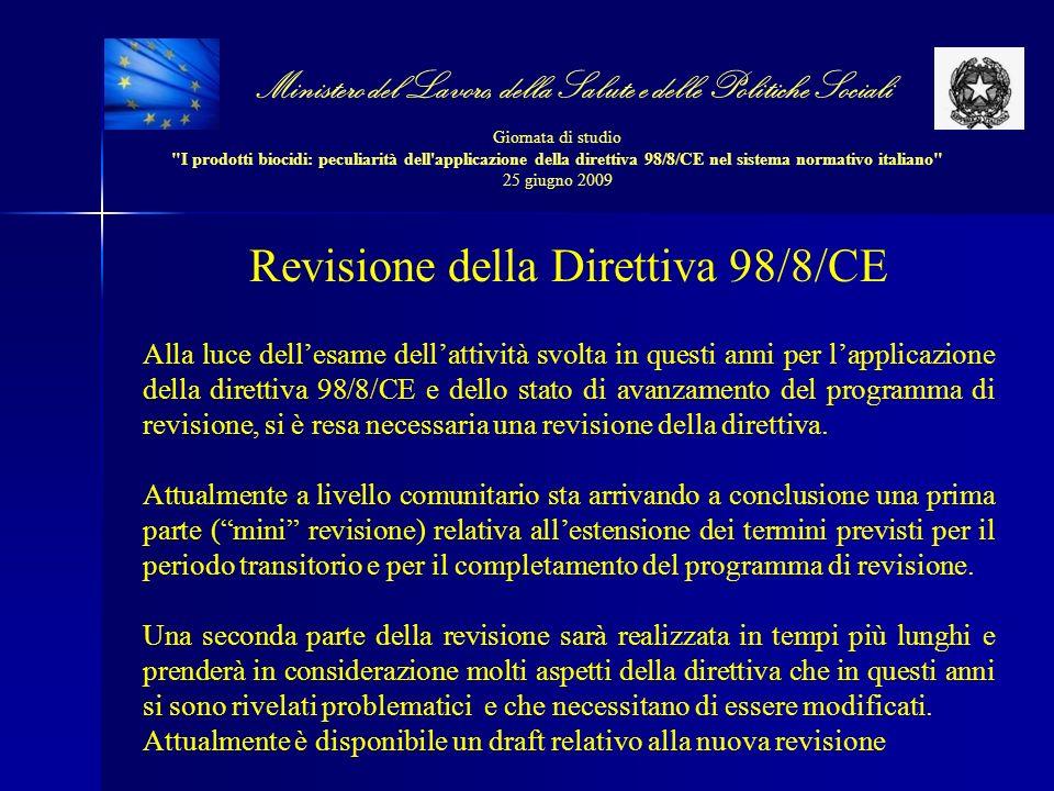 Revisione della Direttiva 98/8/CE