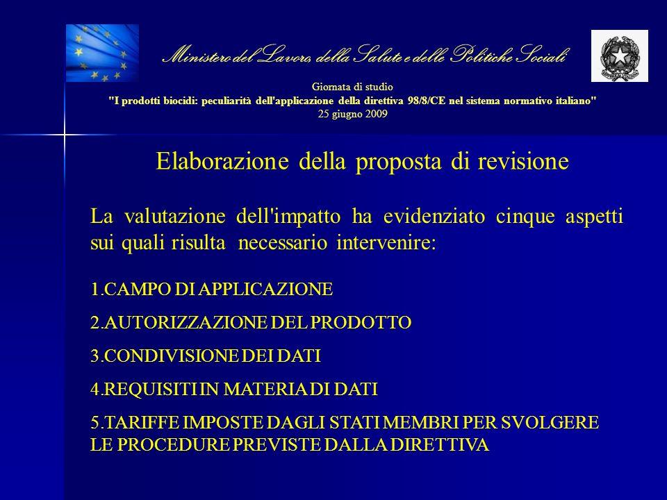 Elaborazione della proposta di revisione