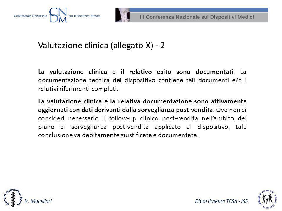 Valutazione clinica (allegato X) - 2