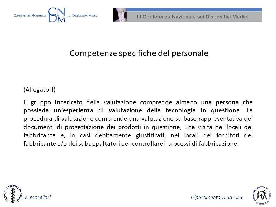 Competenze specifiche del personale