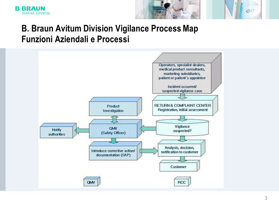 B. Braun Avitum Division Vigilance Process Map Funzioni Aziendali e Processi