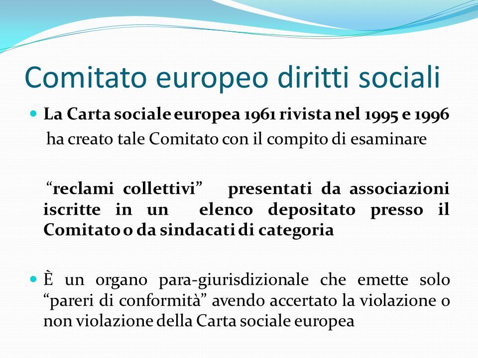 Comitato europeo diritti sociali