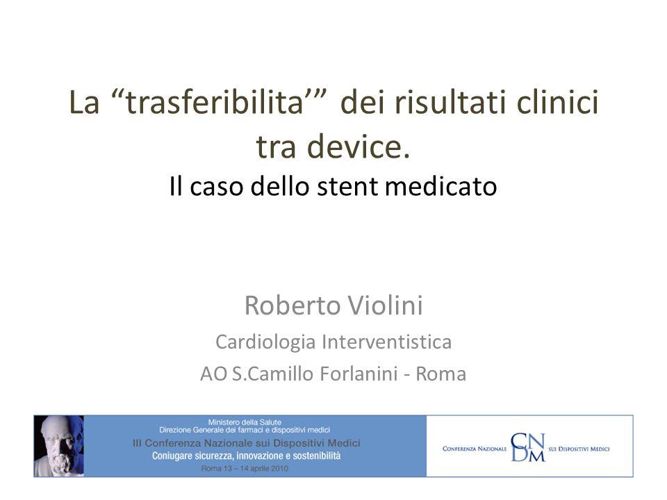 La trasferibilita' dei risultati clinici tra device