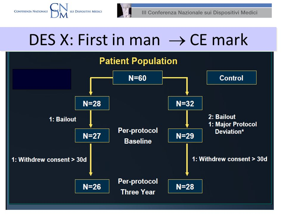 DES X: First in man  CE mark