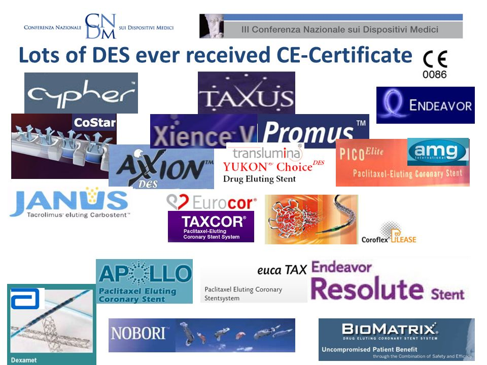 Lots of DES ever received CE-Certificate !