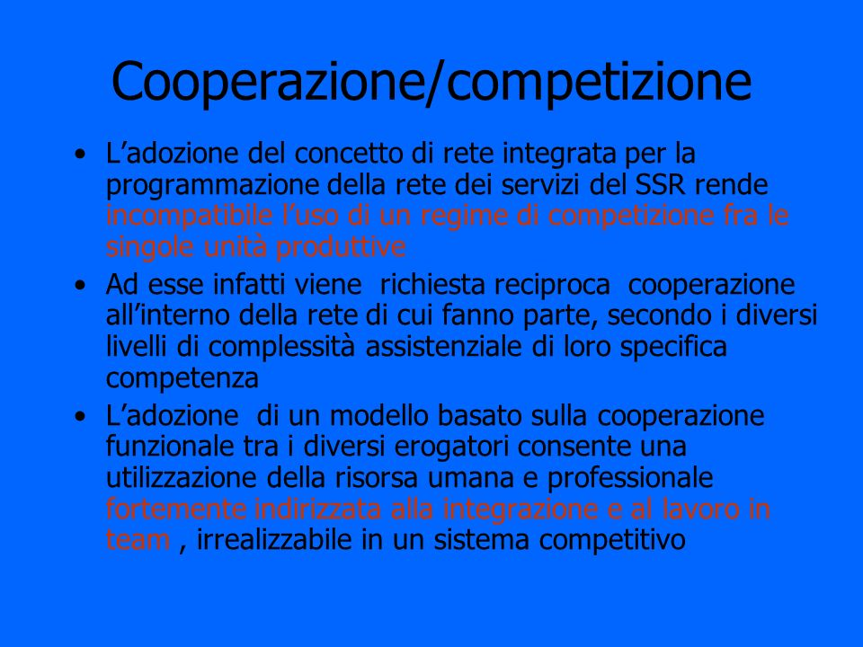 Cooperazione/competizione