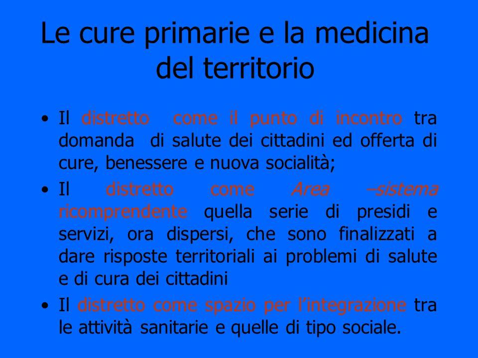 Le cure primarie e la medicina del territorio