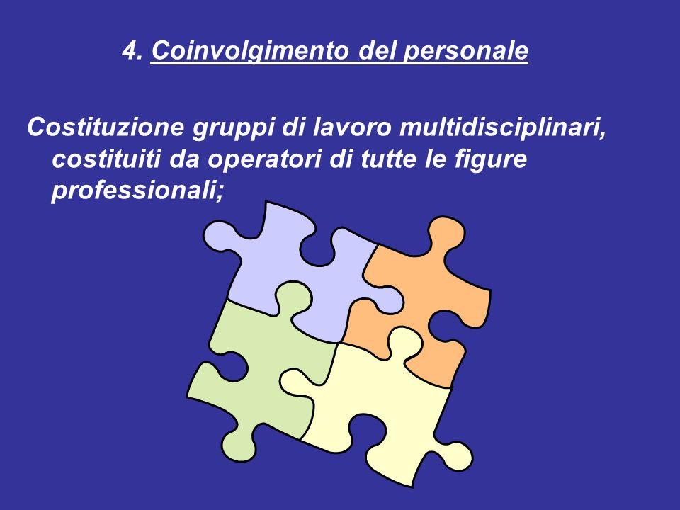 4. Coinvolgimento del personale