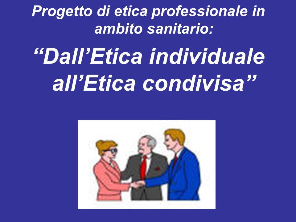 Dall'Etica individuale all'Etica condivisa