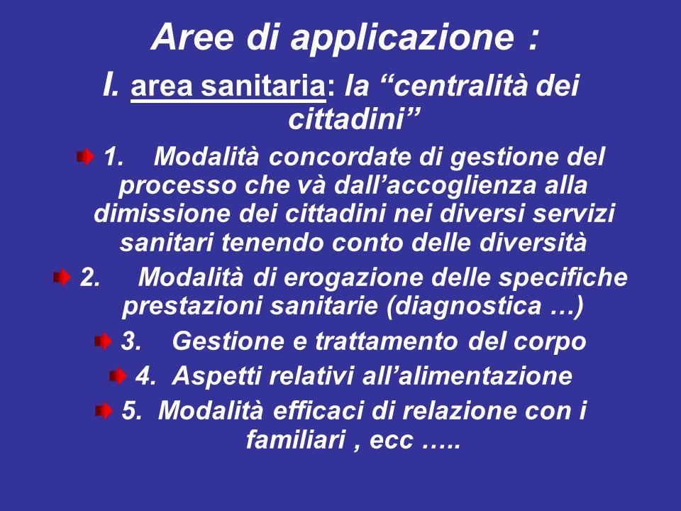 I. area sanitaria: la centralità dei cittadini