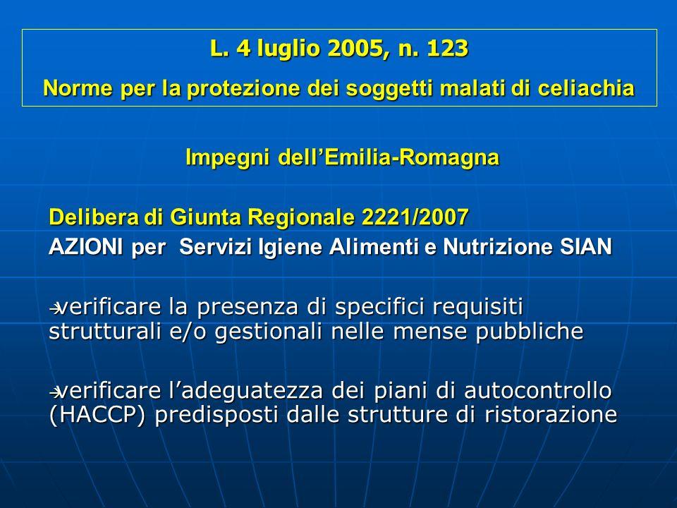Norme per la protezione dei soggetti malati di celiachia