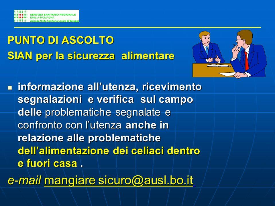 e-mail mangiare sicuro@ausl.bo.it