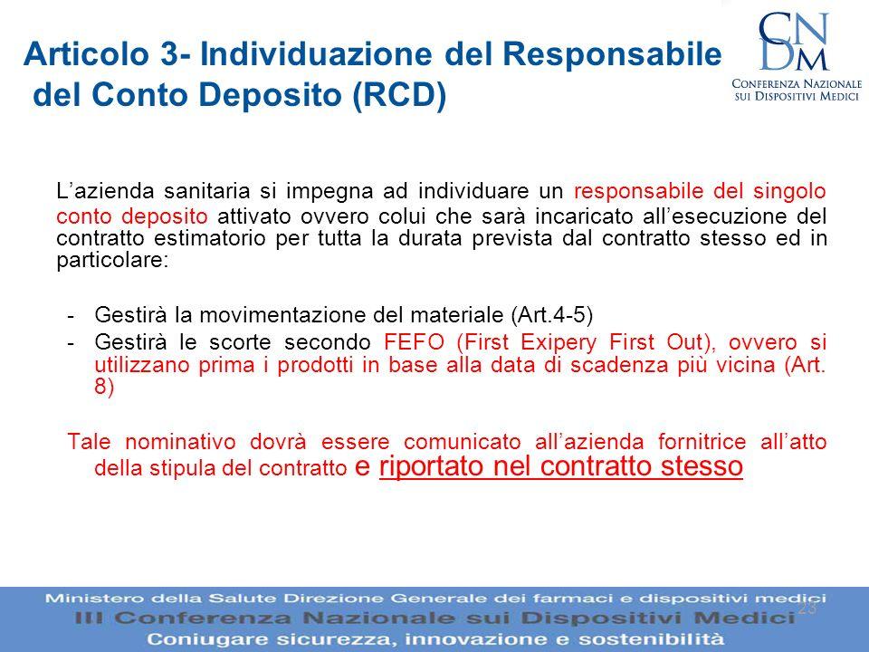 Articolo 3- Individuazione del Responsabile