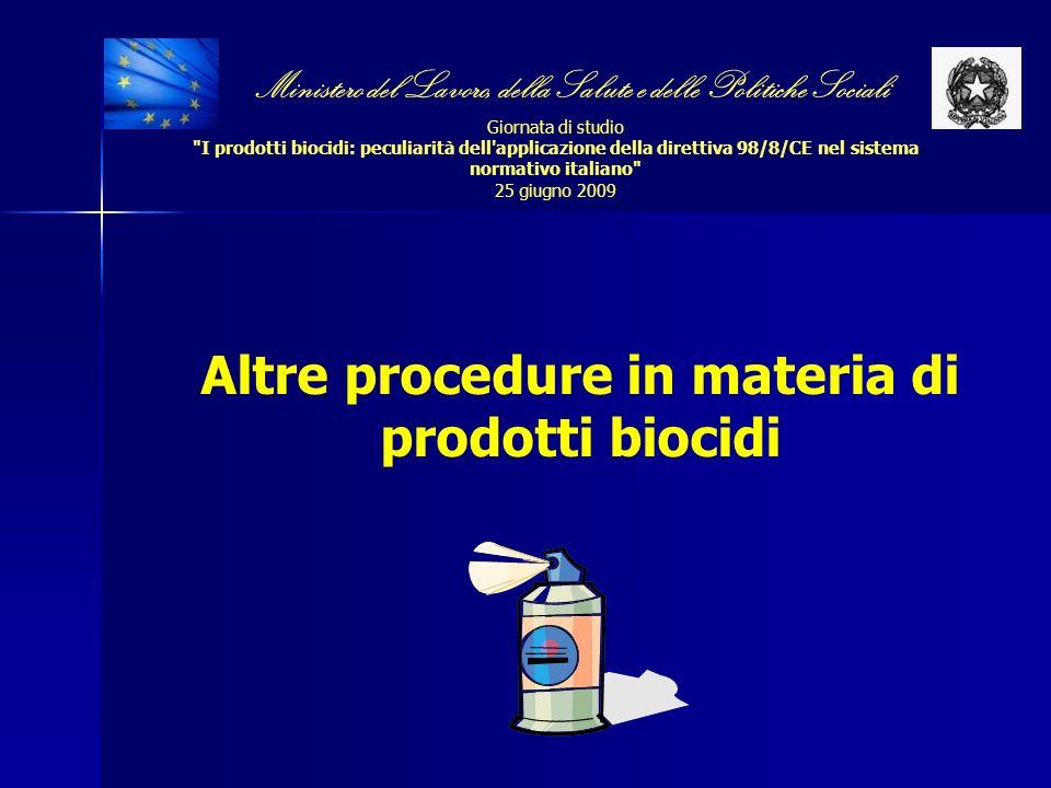 Altre procedure in materia di prodotti biocidi