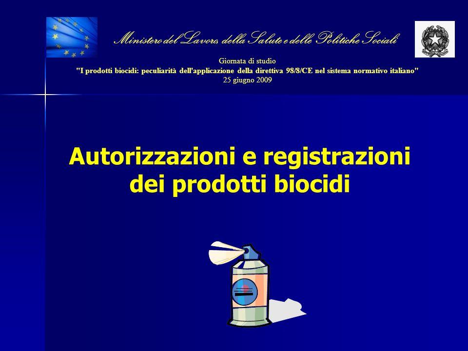 Autorizzazioni e registrazioni dei prodotti biocidi