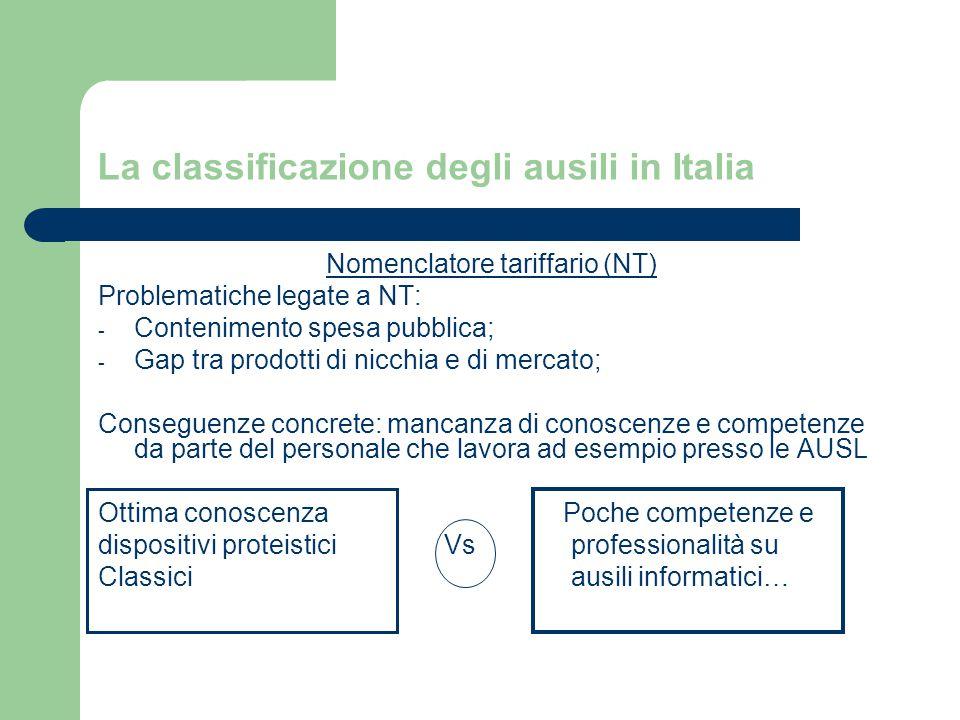 La classificazione degli ausili in Italia