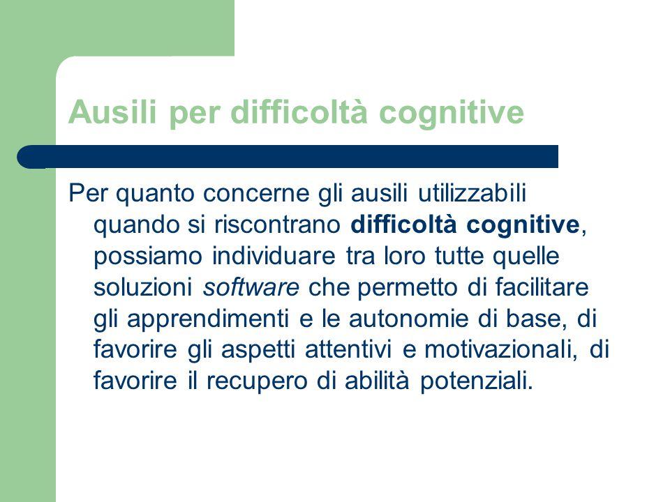 Ausili per difficoltà cognitive