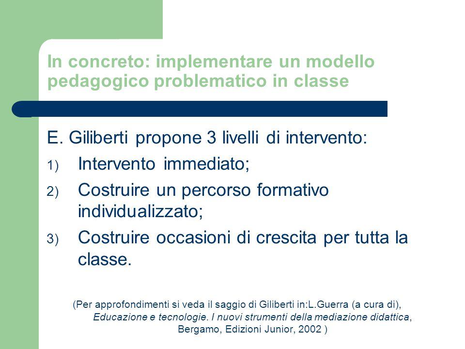 In concreto: implementare un modello pedagogico problematico in classe