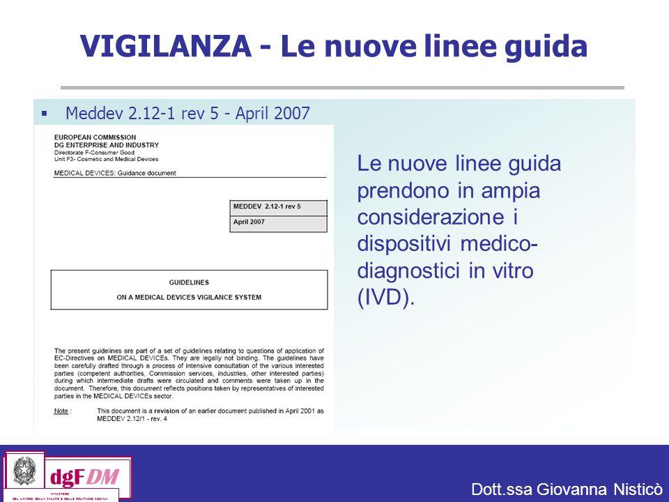 VIGILANZA - Le nuove linee guida