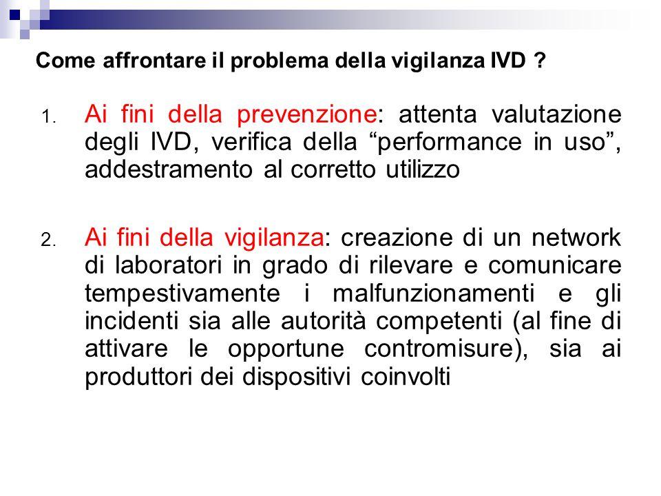 Come affrontare il problema della vigilanza IVD