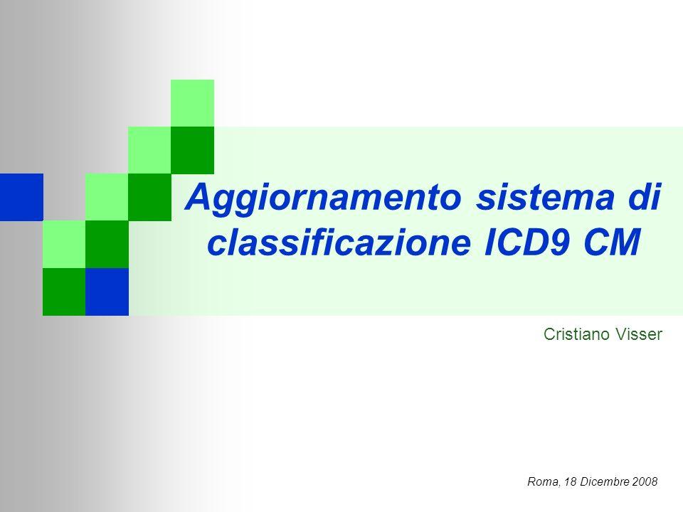 Aggiornamento sistema di classificazione ICD9 CM
