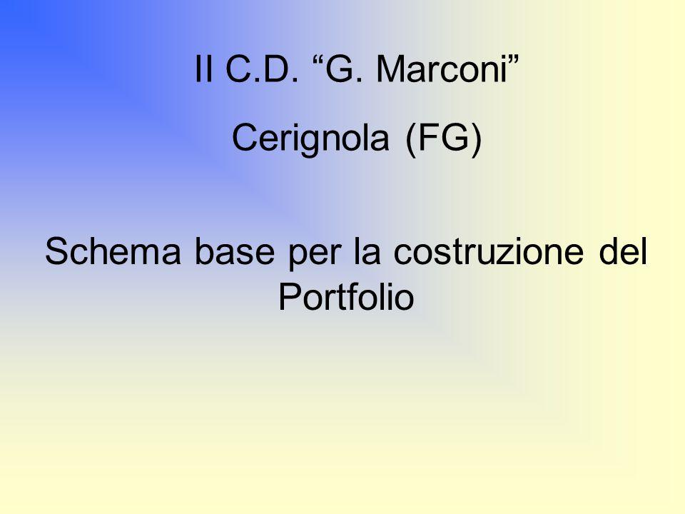 Schema base per la costruzione del Portfolio