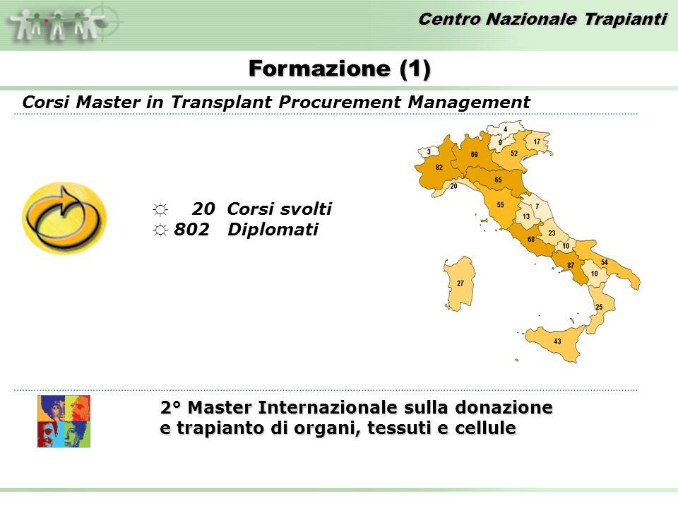 Formazione (1) Corsi Master in Transplant Procurement Management