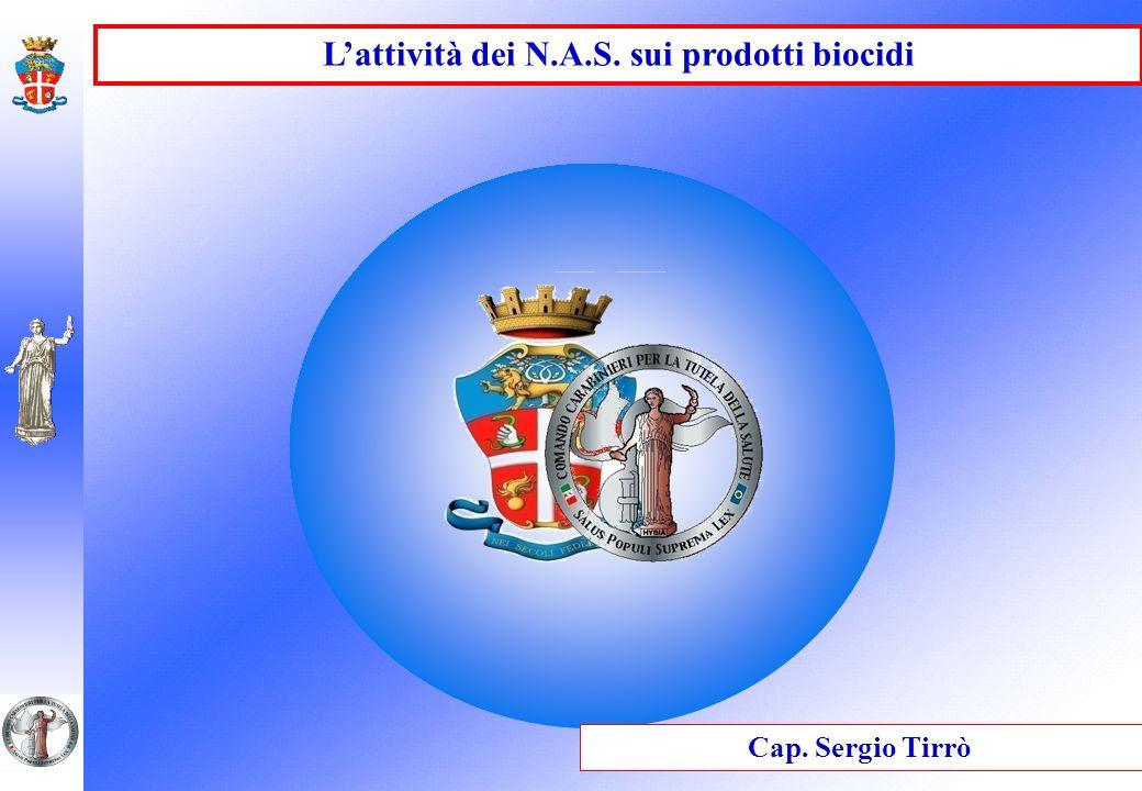 L'attività dei N.A.S. sui prodotti biocidi
