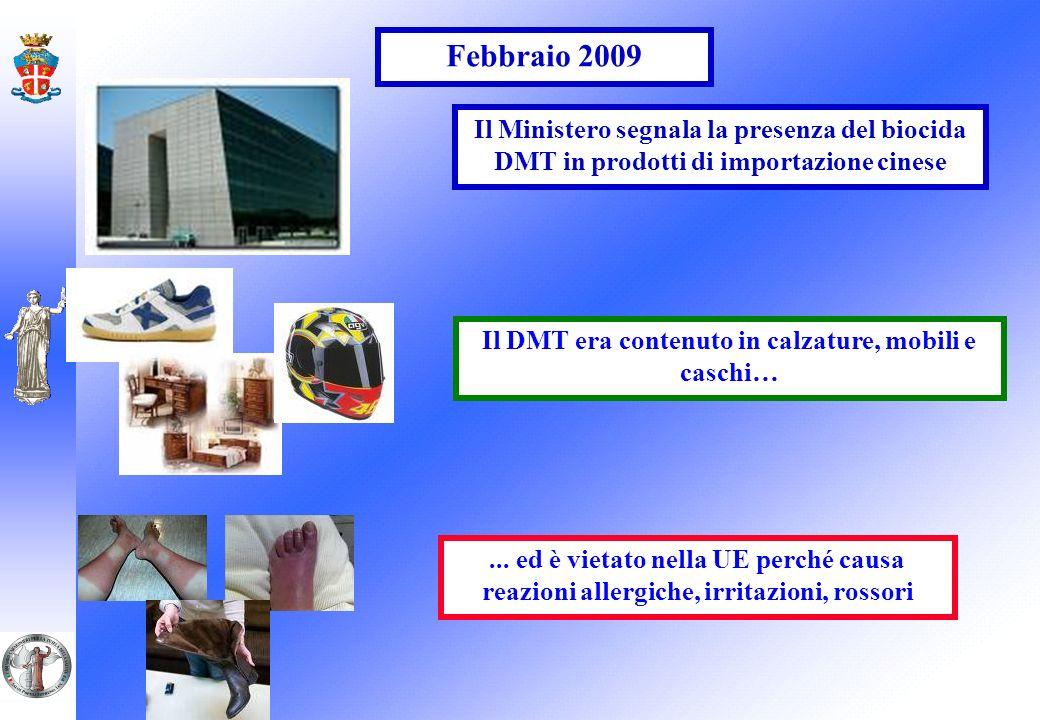 Il DMT era contenuto in calzature, mobili e caschi…