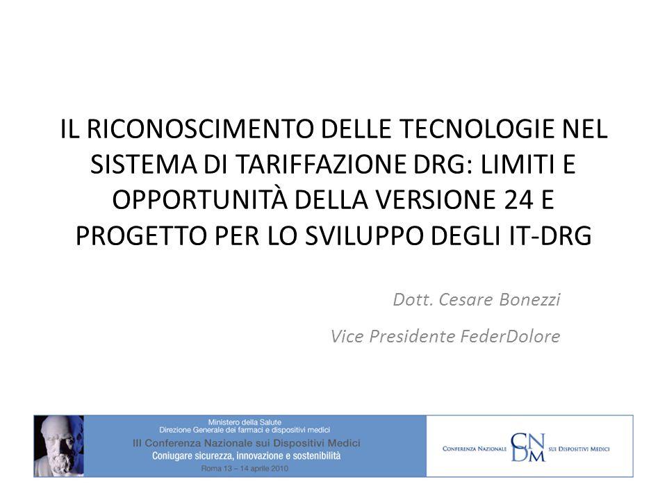 Dott. Cesare Bonezzi Vice Presidente FederDolore