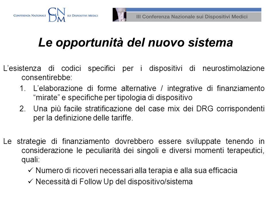 Le opportunità del nuovo sistema
