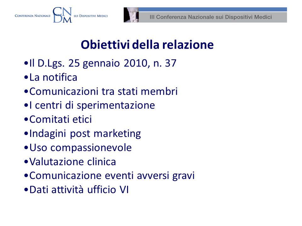 Obiettivi della relazione