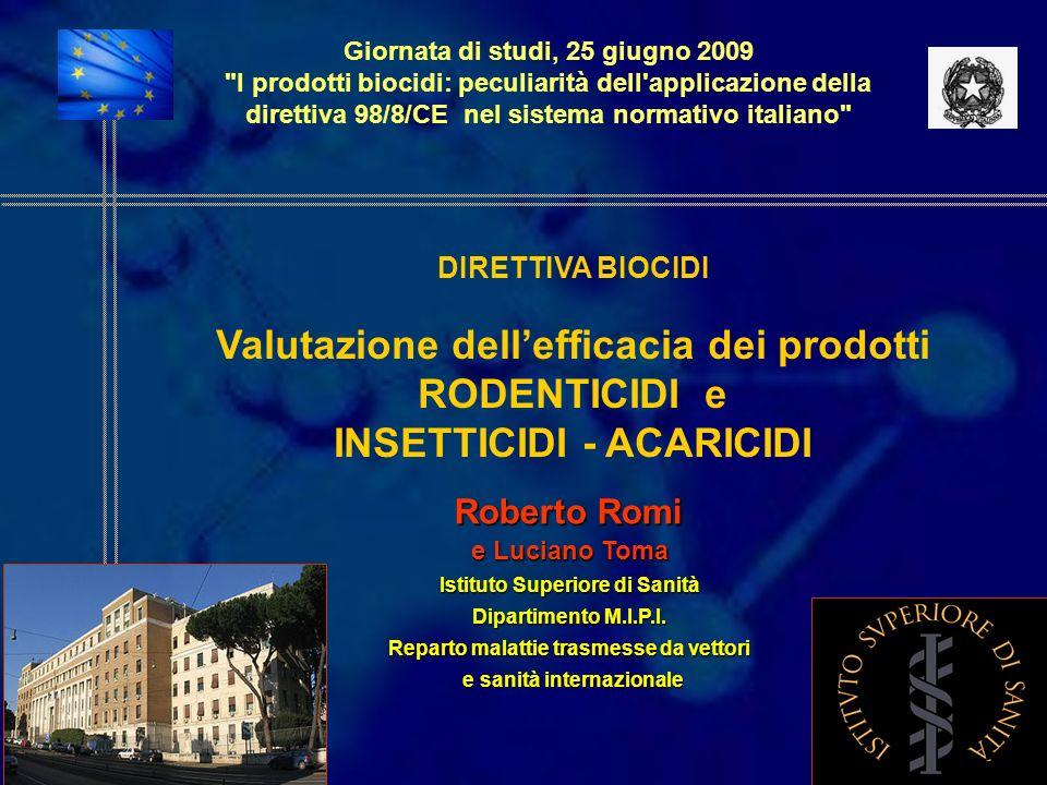 Valutazione dell'efficacia dei prodotti RODENTICIDI e