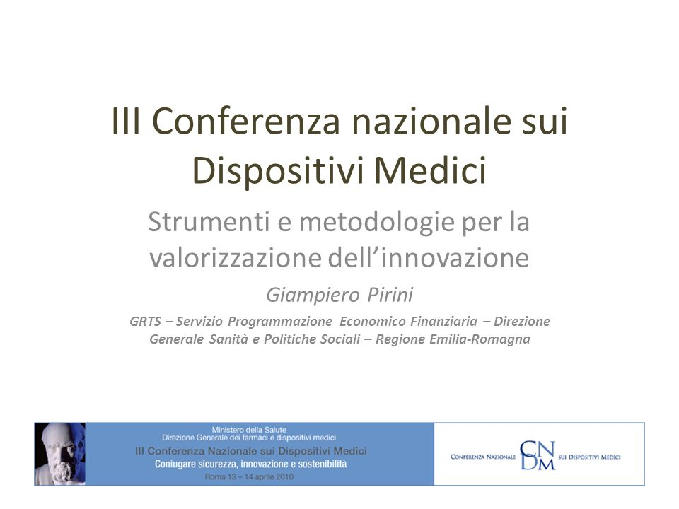 III Conferenza nazionale sui Dispositivi Medici