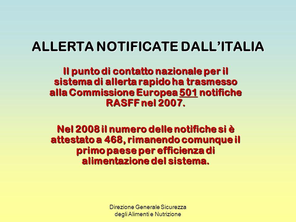 ALLERTA NOTIFICATE DALL'ITALIA