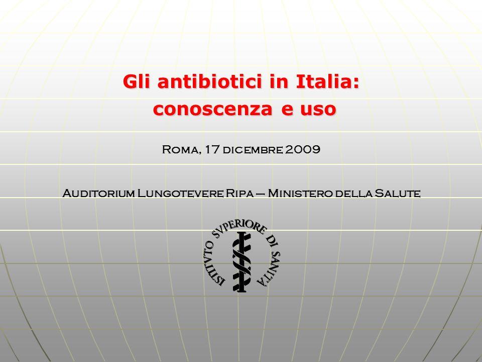 Gli antibiotici in Italia: conoscenza e uso