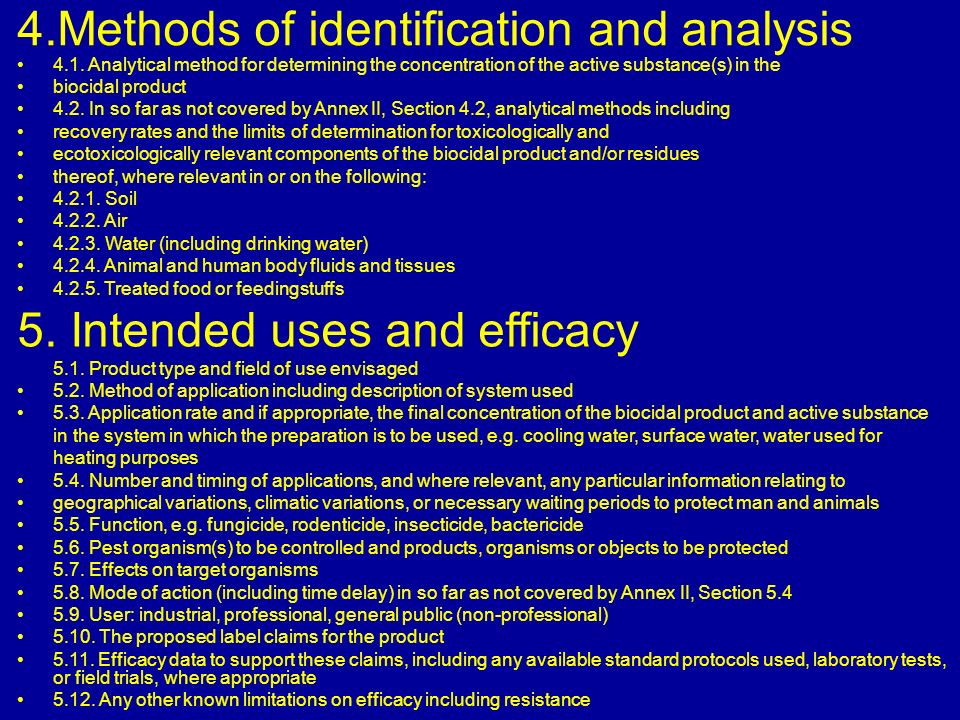 4.Methods of identification and analysis