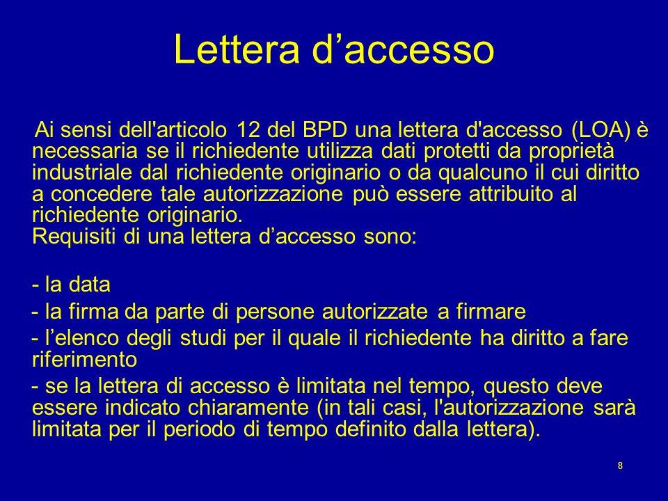 Lettera d'accesso