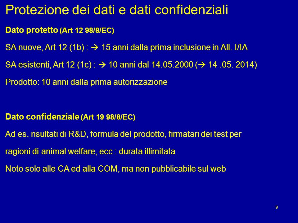 Protezione dei dati e dati confidenziali