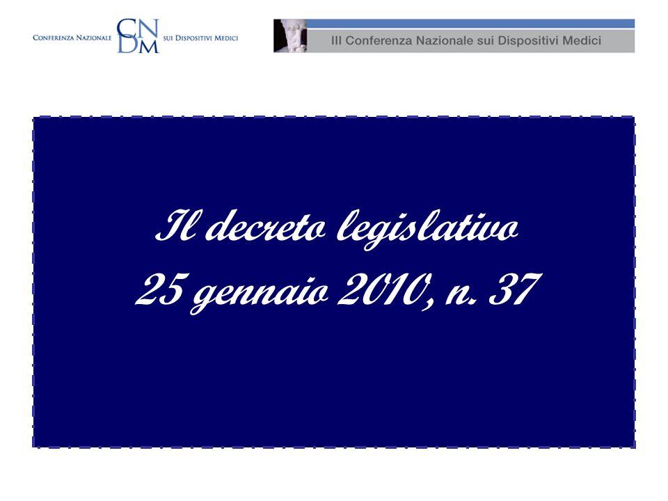 Il decreto legislativo 25 gennaio 2010, n. 37