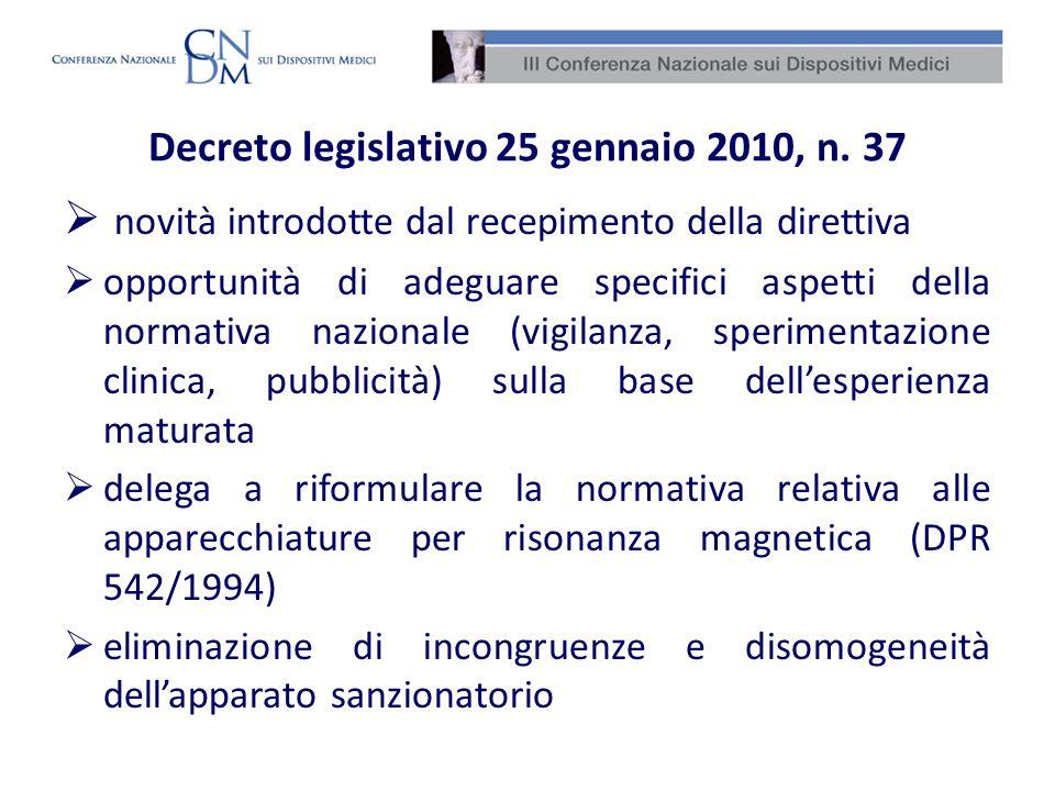 Decreto legislativo 25 gennaio 2010, n. 37