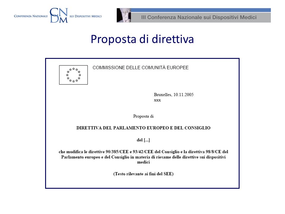 Proposta di direttiva