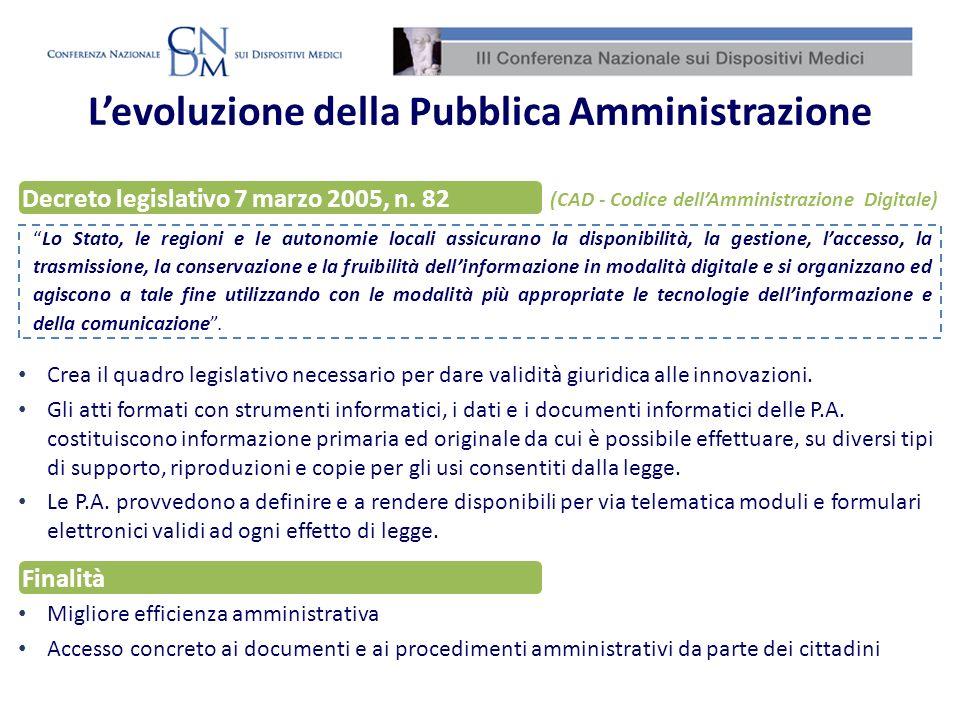 L'evoluzione della Pubblica Amministrazione