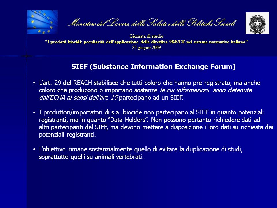 SIEF (Substance Information Exchange Forum)