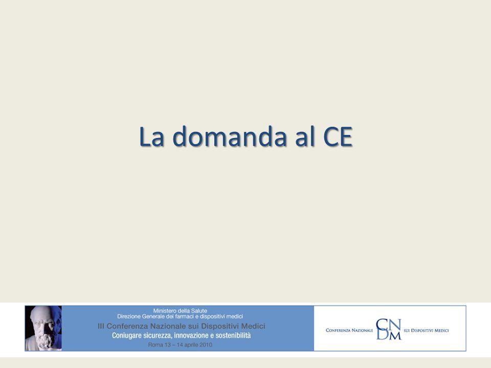 La domanda al CE
