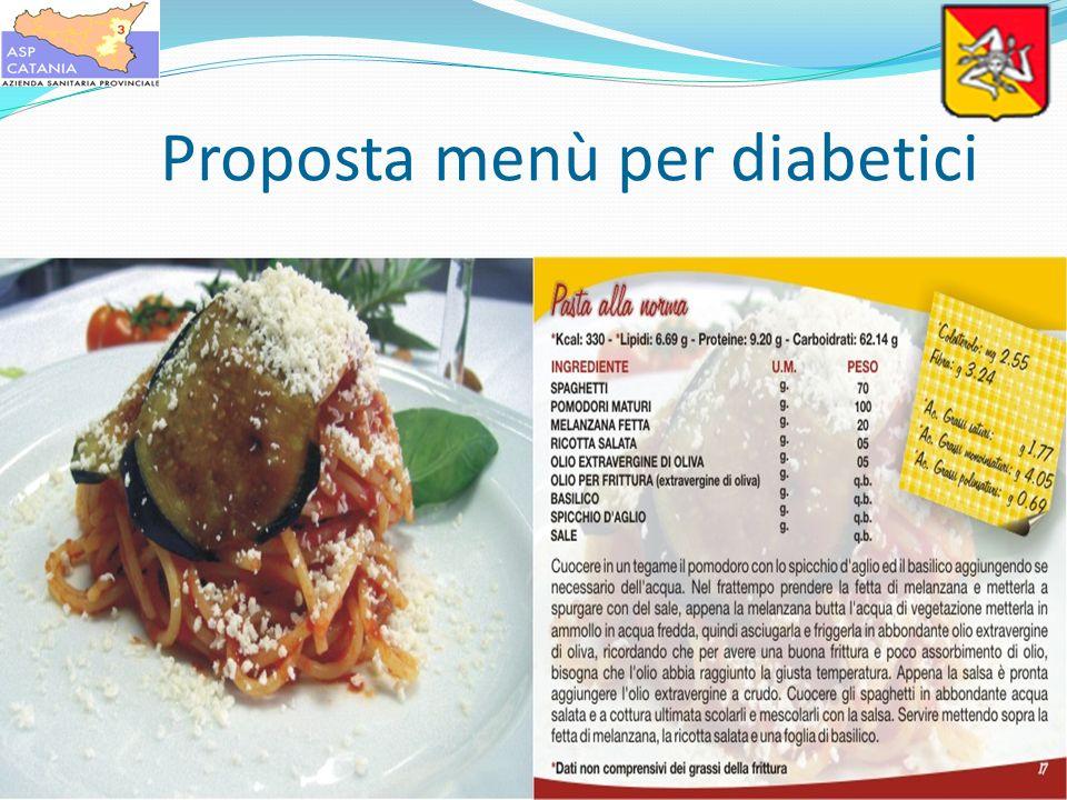 Proposta menù per diabetici