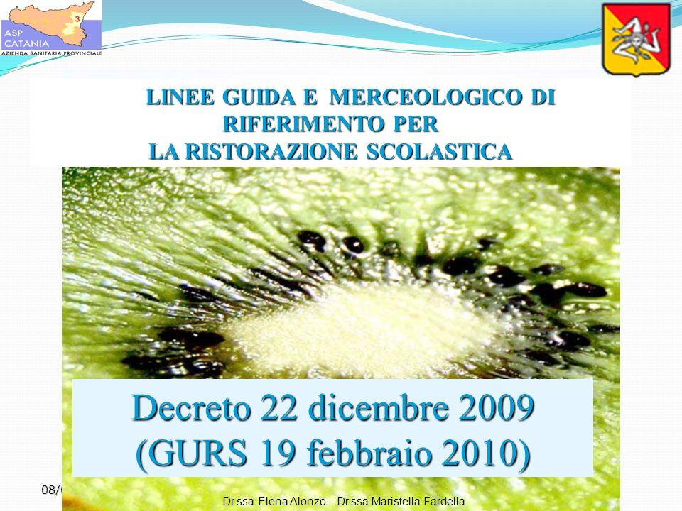 Decreto 22 dicembre 2009 (GURS 19 febbraio 2010)