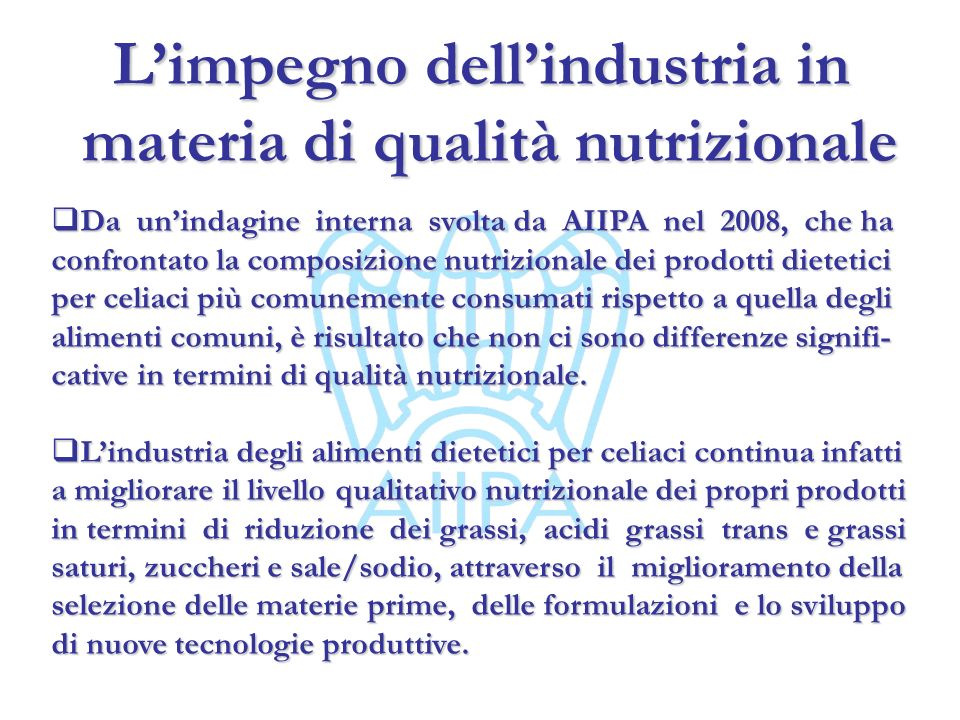 L'impegno dell'industria in materia di qualità nutrizionale